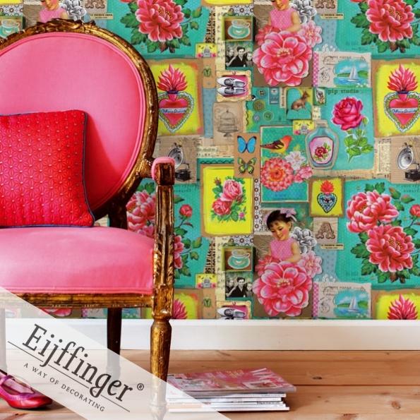 les papiers peint d eijffinger bohemian society girl. Black Bedroom Furniture Sets. Home Design Ideas